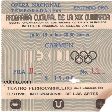 Boleto, 1968, Olimpiada Cultural