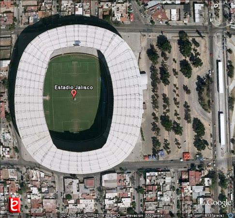 Estadio Jalisco. ID991, Google Earth, 2010